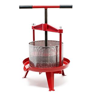 Wiltec Spindel Obstpresse 9 L aus Edelstahl einfach zu reinigen