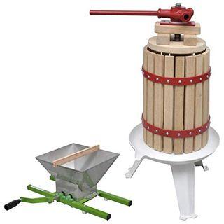 vidaXL Obstpresse Mühle Set Maischepresse Weinpresse Apfelpresse