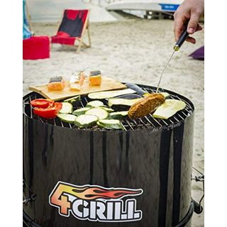 4Grill Barrel BBQ Black