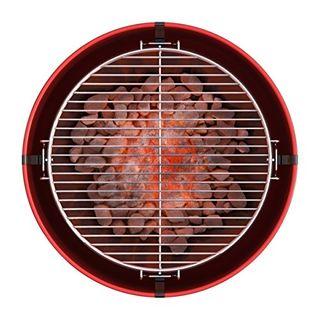 Barbecook Holzkohlegrill Fass-Form Tonne Verchromter Grill-Rost