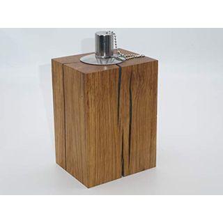 Gartenfackel Holz Eiche Terassenfackel Ölfackel Öllampe