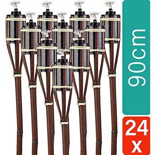 STAR LINE 24 Gartenfackeln aus Bambus