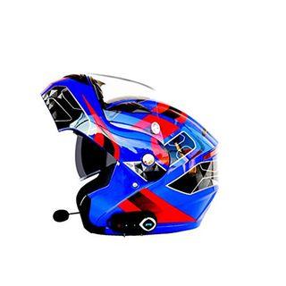 Erwachsene Bluetooth Motorradhelm Doppelobjektiv Anti-Fog
