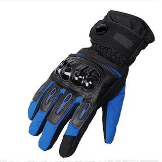 DOXUNGO Unisex Motorradhandschuhe wasserdicht warm Handschuhe