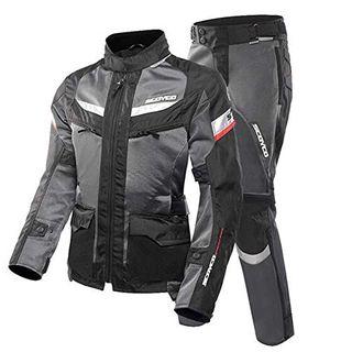 OTRG Motorradkombi Herren 11 Stück Eva-Schutzrüstung 600D Polyester atmungsaktives Mesh