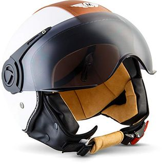 "Moto Helmets H44 ""Vintage White"" · Jet-Helm · Motorrad-Helm Roller-Helm"