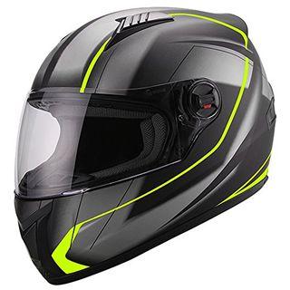 Integralhelm Helm Motorradhelm RALLOX 708 neon gelb grün schwarz