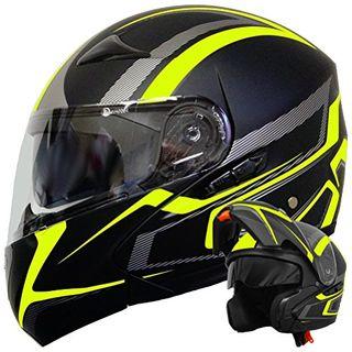 Klapphelm Integralhelm Helm Motorradhelm RALLOX 109 schwarz gelb