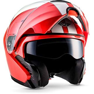 "Moto Helmets F19 ""Racing Red"" · Motorrad-Helm · Klapp-Helm Modular-Helm"
