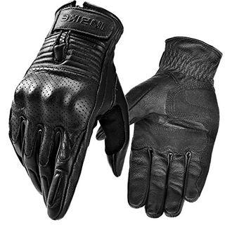 INBIKE Motorrad Handschuhe Herren Damen Sommer Echtes Leder