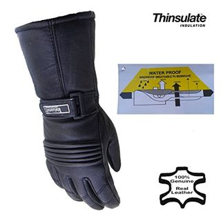 Mens Leather Winter Thermal Labelled Waterproof Inserts