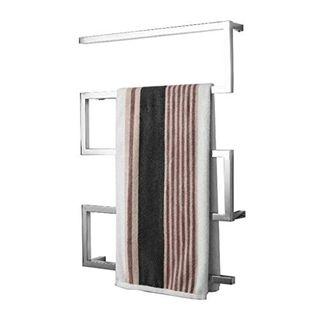 Elektrischer Handtuchhalter Edelstahl-Quadrat-Rohr-Bogen-Design Intelligente