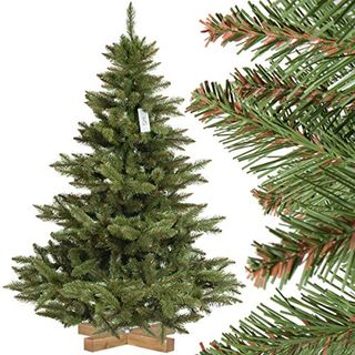FairyTrees künstlicher Weihnachtsbaum Nordmanntanne
