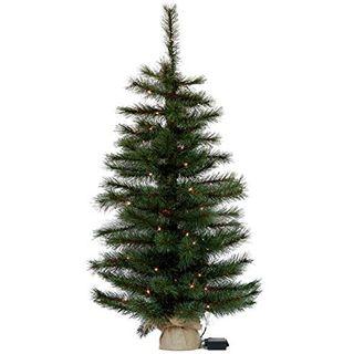 Gartenpirat Weihnachtsbaum Tanne 90 cm beleuchtet 80 LED Deko Christbaum Tannenbaum