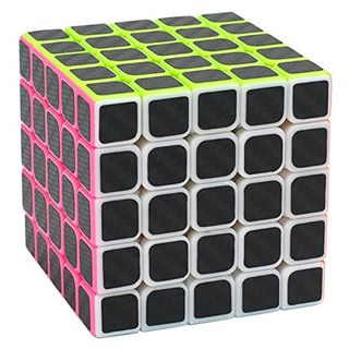 Coolzon Zauberwürfel 5x5x5 Speed Cube Würfel Carbon Faser Aufkleber