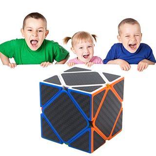 Coolzon Zauberwürfel Skewb Speed Cube Würfel Carbon Faser Aufkleber