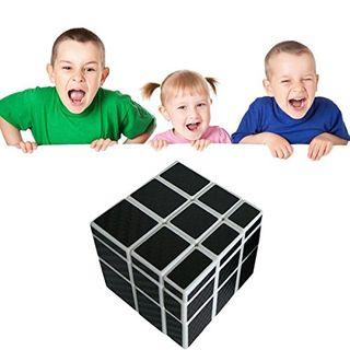 Coolzon Zauberwürfel Mirror Speed Cube Würfel Carbon Faser