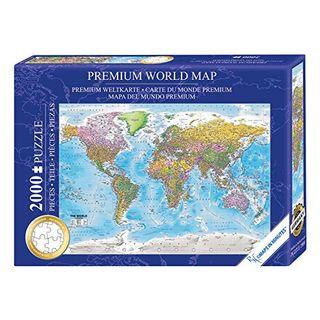 Close Up Weltkarte Puzzle 2000 Teile