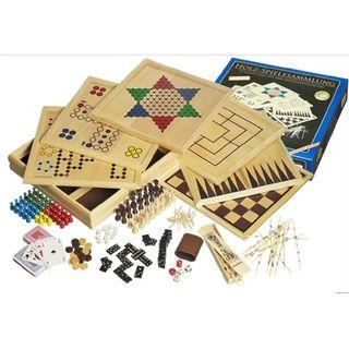 Philos  Holz-Spielesammlung mit 100 Spielmöglichkeiten