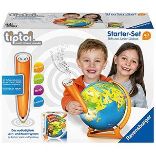 Ravensburger Tiptoi Starter-Set 00068: Stift und Junior-Globus-Lernsystem