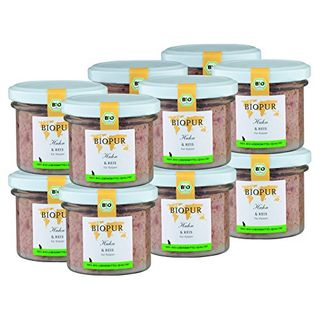 BIOPUR Bio Katzenfutter Huhn & Reis