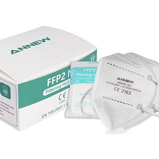 50 X ANNEW Masken FFP2 Maske 5 Lagen Filtration Schutzmaske CE-zertifizierte