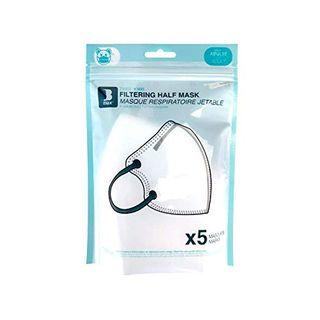 Staroon 5er-Pack KN95 FFP2 5-Lagen- Mundschutzmaske Atemschutzmaske