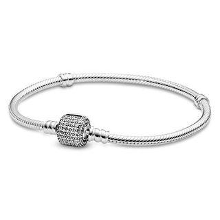 Pandora Damen-Armband Pavé-Kugelverschluss 925 Silber Zirkonia