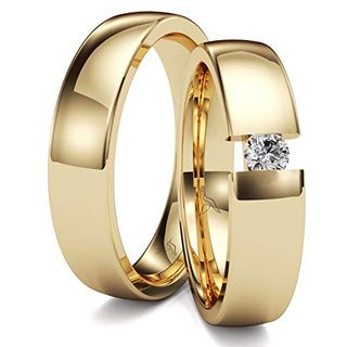 Kolibri Rings GOLD- Eheringe Paarpreis Gold 333 Massiv