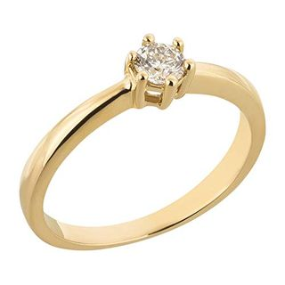 Ardeo Aurum Damenring aus 585 Gold Gelbgold