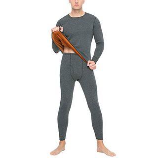LAPASA Herren Thermo-Unterwäscheset Ultra verdickte Funktionelle Ski-Unterwäsche