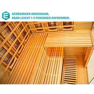 Elbe Infrarotkabine für 3 Personen aus Hemlockholz