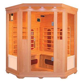 XXL Luxus LED Infrarotsauna Infrarotkabine-Wärmekabine Sauna