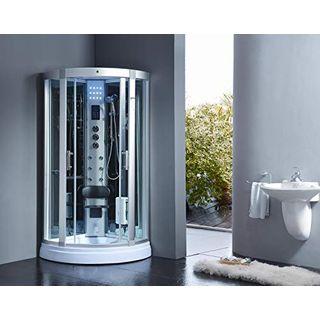 XXL Luxus LED Dampfdusche 95x95x220cm Dusche Duschtempel Komplettdusche