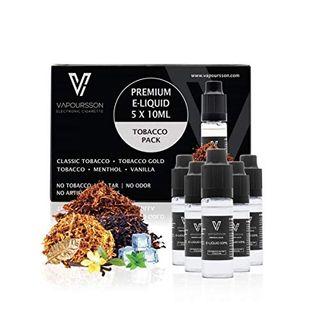 Vapoursson 5 X 10ml Tabak E Liquid