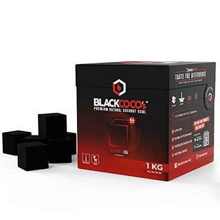 BLACKCOCO's 1 KG Premium Shisha Kohle Naturkohle Kokosnuss und BBQ