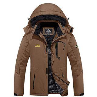 MAGCOMSEN Arbeitsjacke Herren Warm Gefüttert Ski Jacke Übergangsjacke