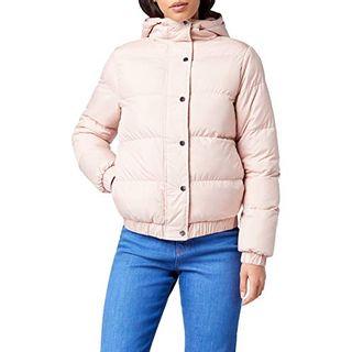Urban Classics Damen Winterjacke Ladies Hooded Puffer Jacket