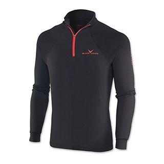Black Crevice Herren Zipper Funktionsshirt