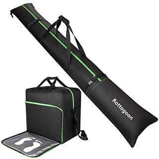 Rottogoon Gepolsterte Skisack und Schuhtasche Combo-Skischuh-Reisetasche