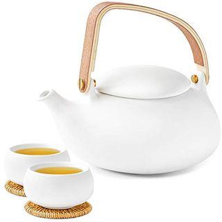 ZENS Teeservice Porzellan mit Teekanne