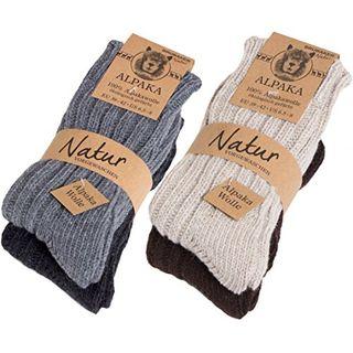 4 Paar dicke flauschige warme Alpaka Socken