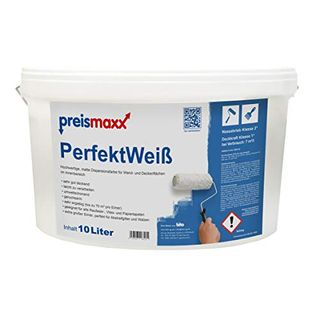 preismaxx Wandfarbe weiß hohe Deckkraft Klasse 1