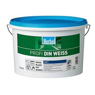 Herbol Profi DIN weiß Wandfarbe Innenfarbe matt