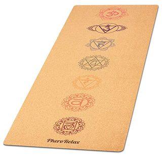 PheroRelax Premium Yogamatte Kork