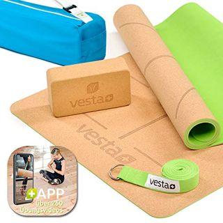 Vesta+ Yogamatte inkl. APP über 260 Übungen