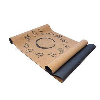 ZODIAC CYCLE Premium Yogamatte Kork