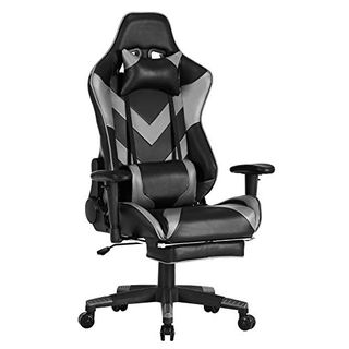 WOLTU Racing Stuhl BS20gr Gaming Stuhl Bürostuhl Schreibtischstuhl
