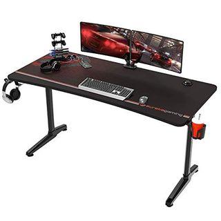 EUREKA ERGONOMIC Gaming Tisch Groß P60 Gaming Schreibtisch 152 * 70cm Gamer Tisch