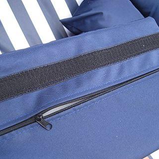 XINRO Strandkorb XXL blau # Strandkorb XXXL 3-SITZER 160cm breit